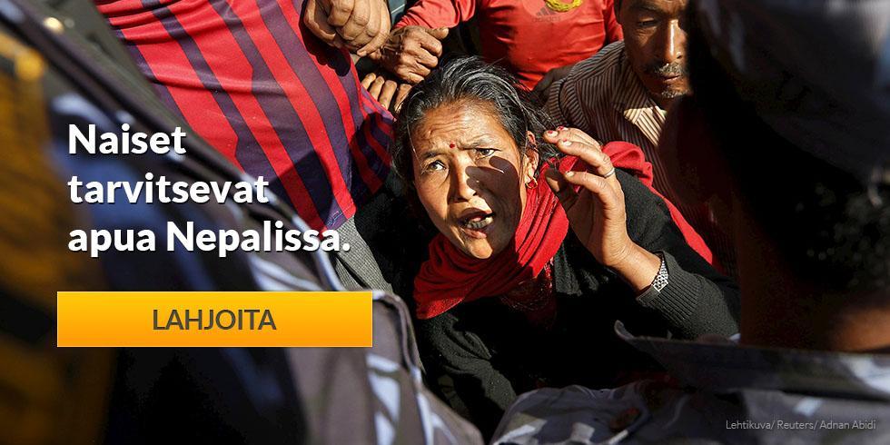Naiset tarvitsevat apua Nepalissa