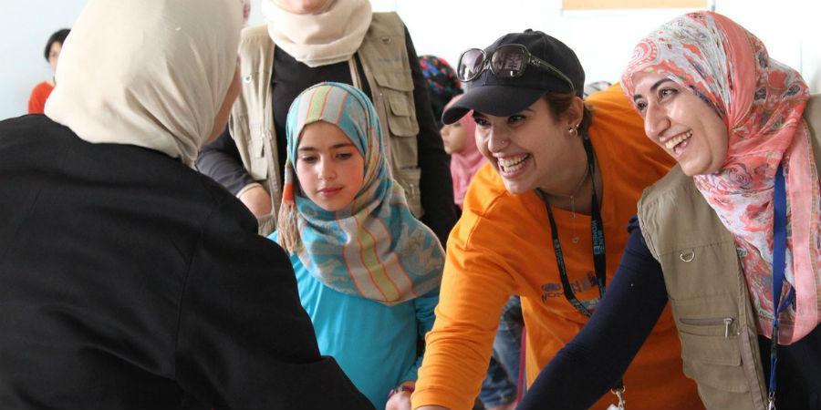 Töissä Zaatarin pakolaisleirillä