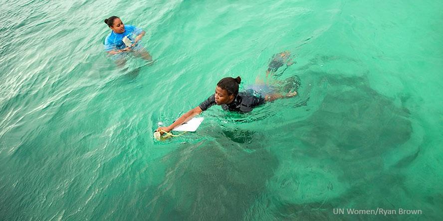 Seychellien naiset suojelevat valtameren elämää